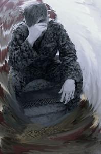 Soldat mit PTBS