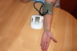 oszillatoirsche Blutdruckmessung Oberarm