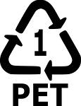 Plastik-Symbol PET